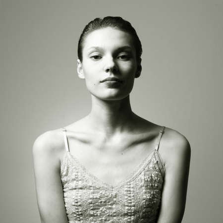 Portrait of young beautiful woman. Studio  Stock Photo - 6635026