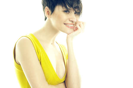 Fashion portrait of a beautiful smiling lady Stock Photo - 6782645