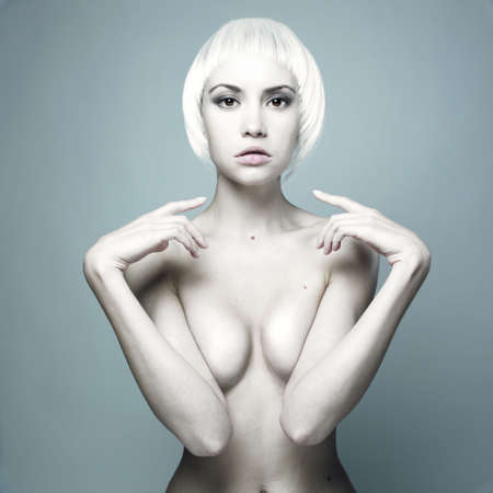 Photo of futuristic nude woman with blond hair Stock Photo - 7142699