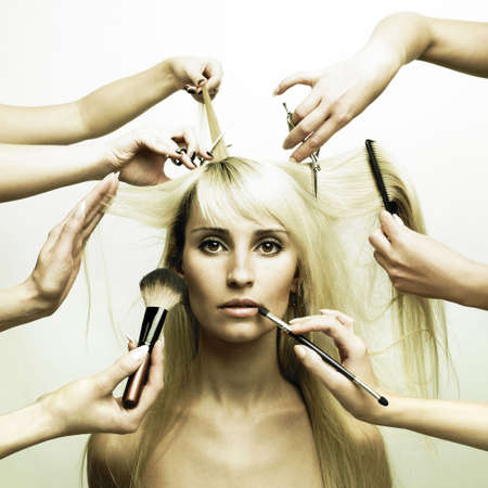 Woman in a beauty salon. Conceptual photo photo