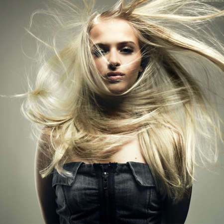 Photo of beautiful woman with magnificent hair Stock Photo - 7445248