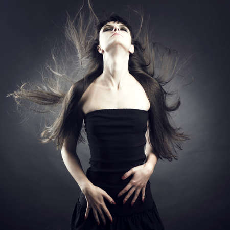 Photo of beautiful woman with magnificent hair Stock Photo - 7706031