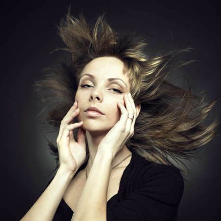 Photo of beautiful woman with magnificent hair Stock Photo - 8105850