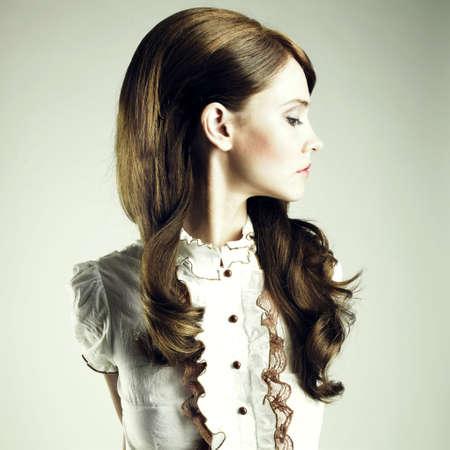 Fashion portrait of young elegant brunette girl Stock Photo - 8105895