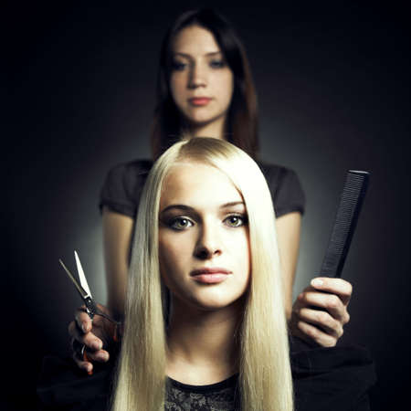 Woman in a beauty salon. Conceptual photo Stock Photo - 8191570