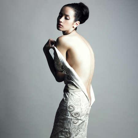 Portrait of undress elegant woman. Studio fashion photo. Stock Photo - 8352960