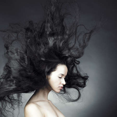 Beautiful woman with magnificent hair Stock Photo - 8421464