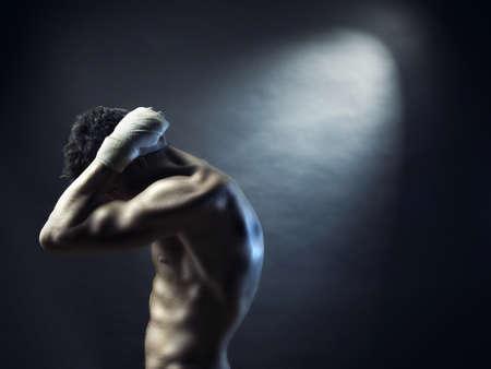 hombres musculosos: Atleta con fuerte cuerpo Foto de archivo