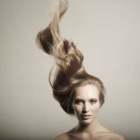 Photo of young beautiful woman with magnificent hair Stock Photo - 9199065