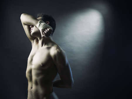 Photo of naked athlete with strong body Stock Photo - 9832443