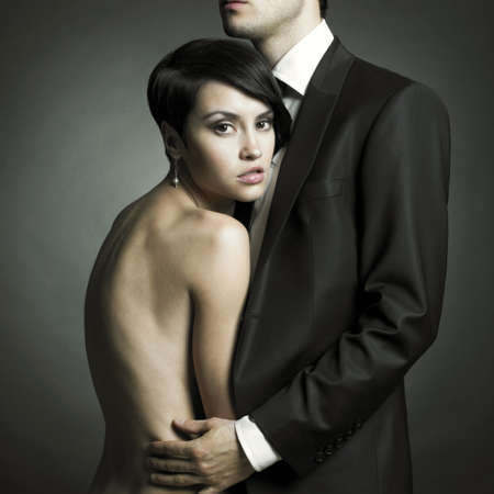 Portrait of young elegant couples in the tender passion Stock Photo - 10099271