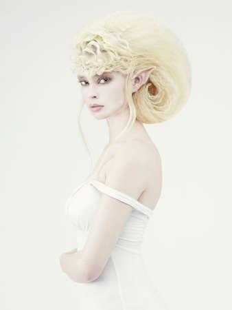 sexy christmas elf: Immagine elegante di un elfo bella ragazza