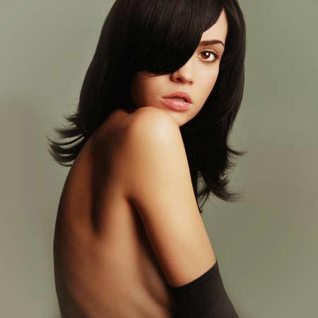 Fashion art photo of young beautiful brunette  Stock Photo - 18733757