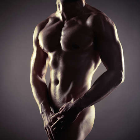 musculoso: atleta con cuerpo fuerte