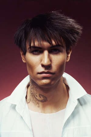 vogue style: Portrait of handsome man with stylish haircut