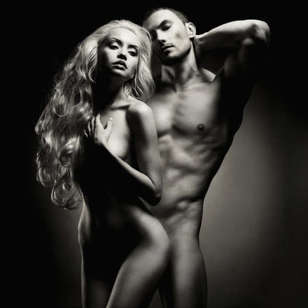 nude sex: Art photo of nude sexy couple in the tender passion Stock Photo