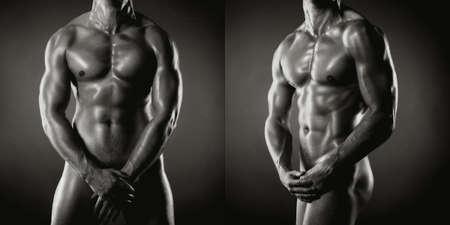 desnudo artistico: Poto de atleta desnudo con cuerpo fuerte