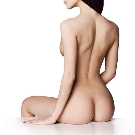 donna nuda: Fashion art studio fotografico di elegante signora nuda