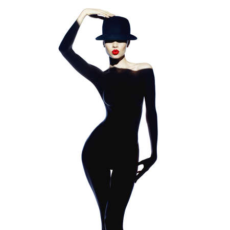 Fashion art photo of beautiful lady with gorgeous body Foto de archivo