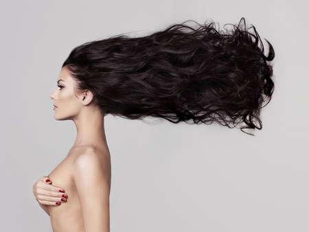 naked: Fashion art Studio-Foto von eleganten nackte Dame