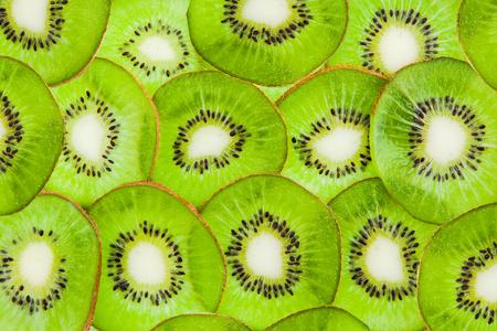 Kiwi cut by segments Stock Photo