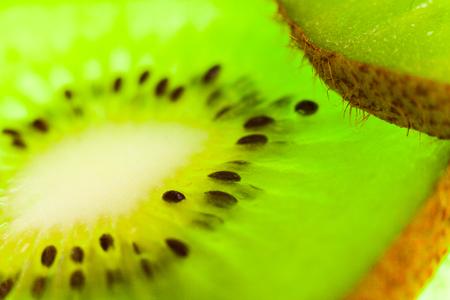 Juicy sliced kiwi slice in the studio
