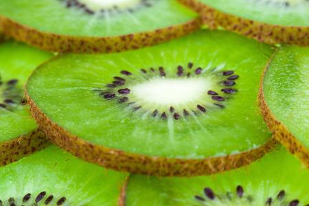 Juicy sliced kiwi slices in the studio Stock Photo