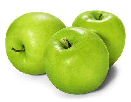 manzana verde: manzanas verdes aisladas sobre fondo blanco