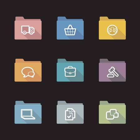on line shopping: Simple line shopping icons for web and mobile