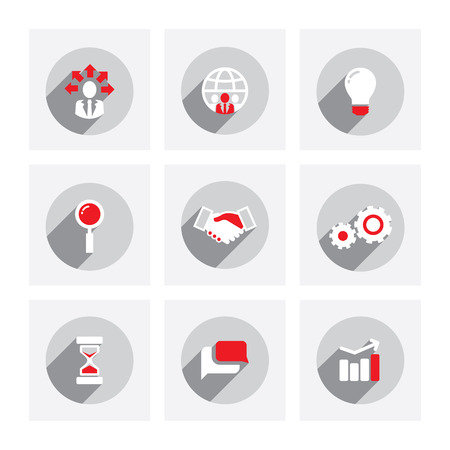 business communication: Set of web icons for business, finance and communication Illustration
