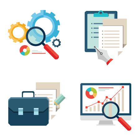 Basic Flat icon set for Web and Mobile Application. News, communications Illustration