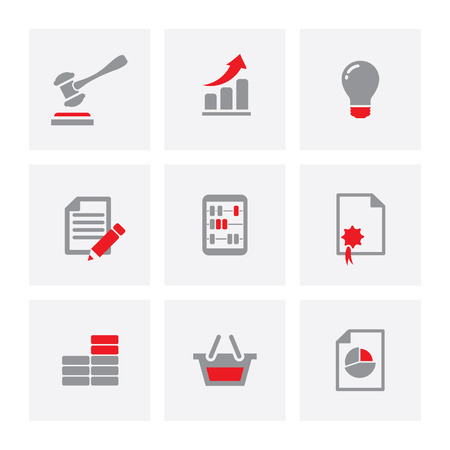 business communication: Flat Set of web icons for business, finance and communication