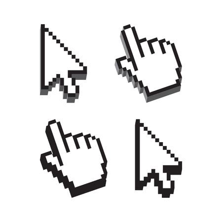 flechas: Conjunto Cursor Forma dimensional