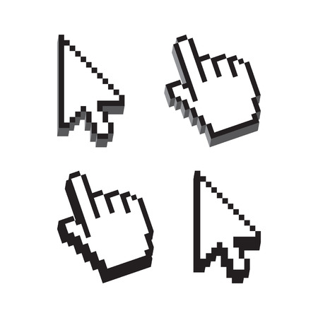 klik: Dimensionale vorm Cursor set Stock Illustratie