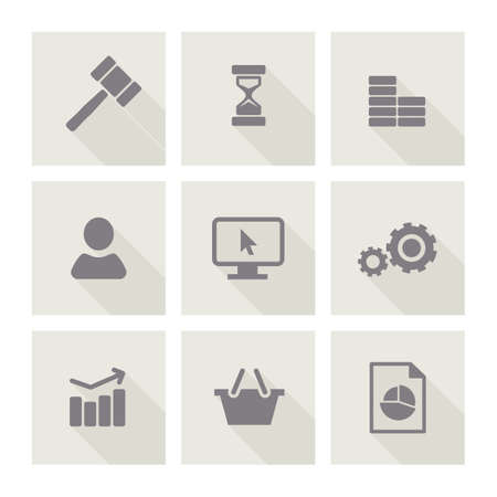ides: Set of line web icons for business finance and communication