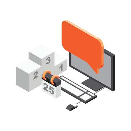 champ: 3d Isometric office objects