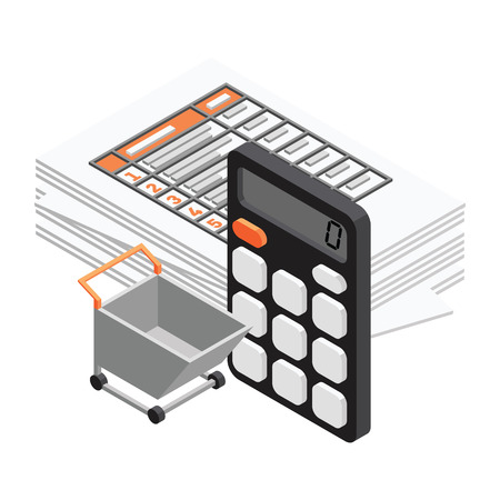 objects: 3d vector Isometric office objects