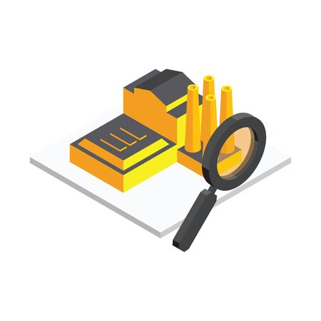 3d vector Isometric icon. Searching for a new home concept