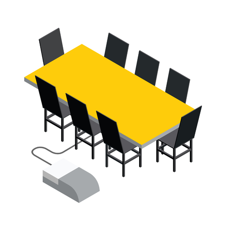 objects: 3d Isometric office objects