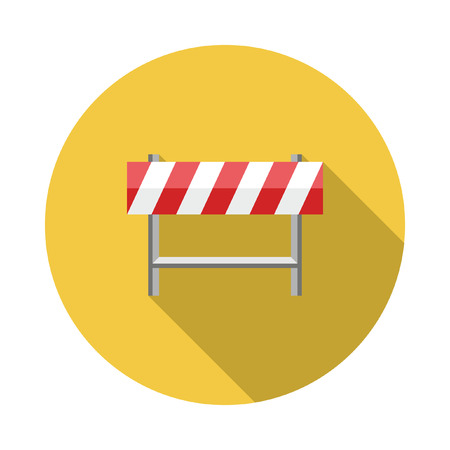 under construction road sign: Under Construction Road Sign. Flat style with long shadows, Stop sign icon illustration.