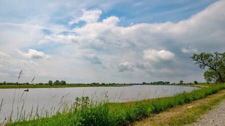 Bank of the Vistula River, Poland. Przegalina, Gdansk.