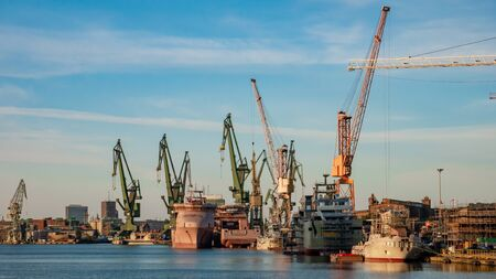 View of the shipyard in Gdansk.
