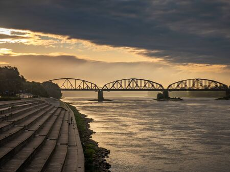 Bridge on Vistula River in Torun. Kuyavian-Pomeranian, Poland.