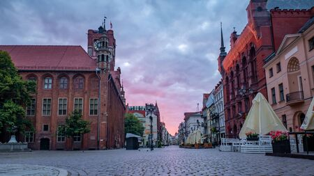 Medieval Town Hall in the Old Town of Torun, Poland.