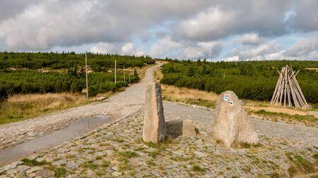 Trail to Sniezka mountain (1602), Giant Mountains, Western Sudetes, Poland