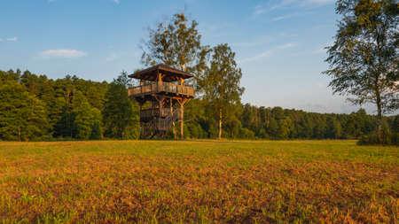 Nature landscape observation point