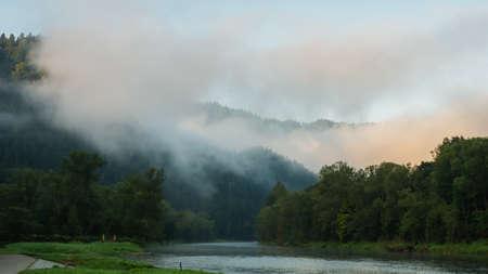 Dunajec river in Pieniny mountains, Poland.