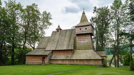 Gothic wooden church in Grywald
