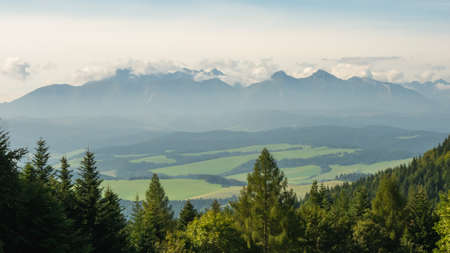 View of the Tatra Mountains from the Pieniny Mountains
