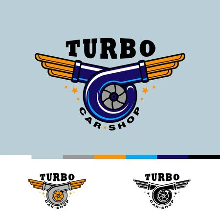 Logo fot car repair shop, TURBO